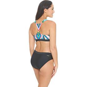 Zoggs Breeze Muscleback bikini Dames zwart/bont